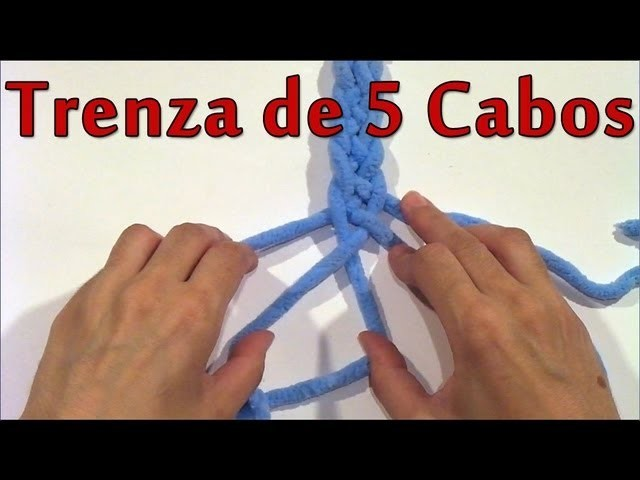 DIY Como hacer una trenza de 5 cabos - How to make a braid of 5 ends