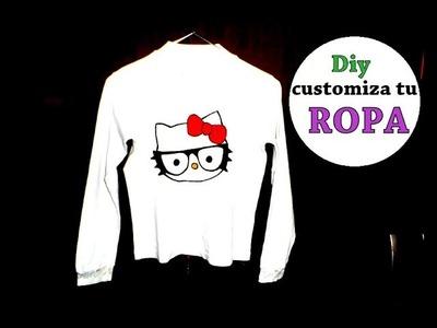 Diy customiza tu ropa facil y rapido 3 opciones