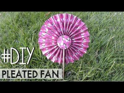 DIY Pleated fan - Paipay plisado #3