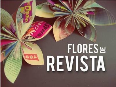 Flores de revista   . Kusudama Origami