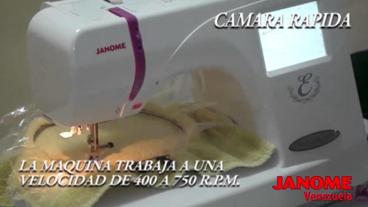 Janome Craft 350e - Utilizando el Bastidor de Toallas