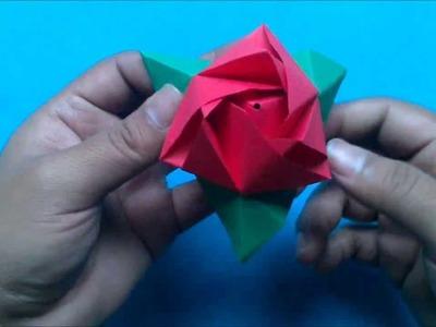 Origami Cubo magico o Cubo rosa