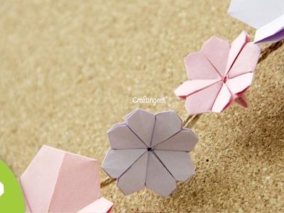 Origami: Flor de Cerezo. Cherry Blossom