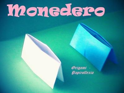 Origami - Papiroflexia. Monedero de papel muy fácil y rápido