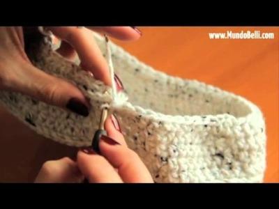 Pantufla Bota Crochet 6 de 8