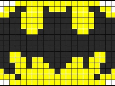 Patrón Hama Beads - Emblema de Batman