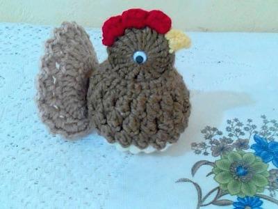 Pollito a crochet para adornar tu cocina