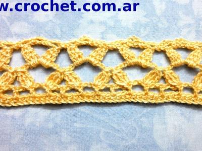Puntilla N° 41 en tejido crochet tutorial paso a paso.