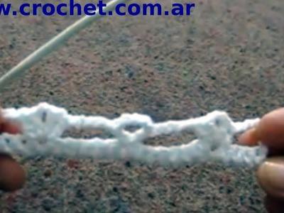 Punto Fantasía  N° 55 (Parte 1) en tejido crochet tutorial paso a paso.