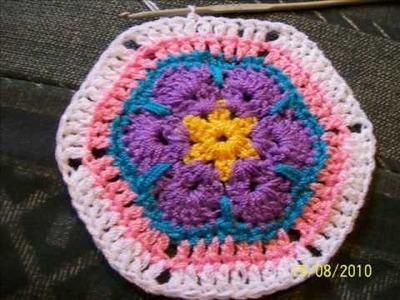 Tutorial Flor Africana a crochet . AFRICAN FLOWER