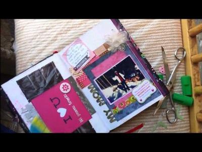 TUTORIAL SCRAPBOOK ♥ SMASH BOOK Haz una pagina conmigo ♥ 05  06  2013)