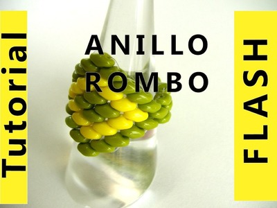 Abalorios DIY - Anillo Rombo con superduo