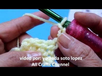 Aprenda a tejer Crochet (ganchillo)  Punto vareta, medio punto alto