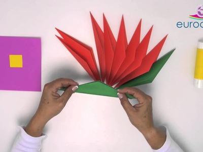 Arte con papel - Videocápsula 1 - Nochebuena origami