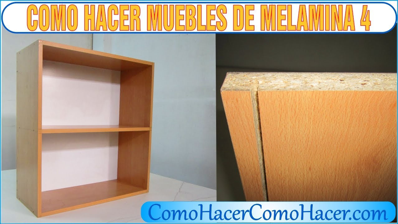 Bricolage como hacer muebles laminados melamina 4