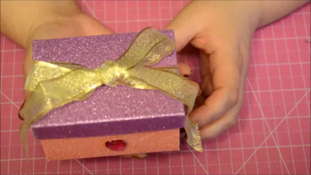 Caja Scrapbook Regalo. Gift Box