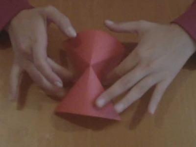 Cajita voladora de oragami. origami angel box