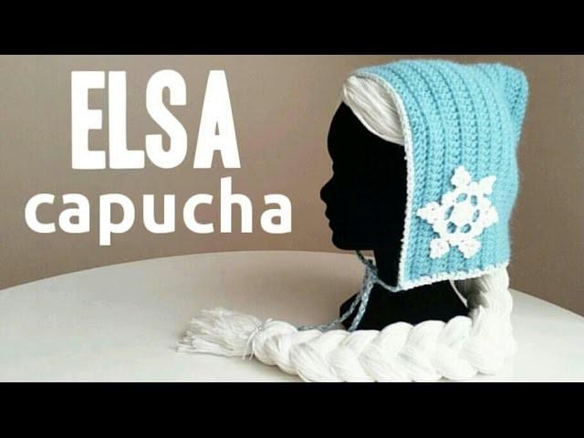 Capucha Inspirada en Elsa (FROZEN) a Crochet - TODAS LAS TALLAS