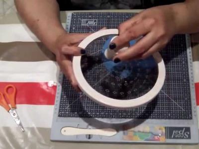 Cardmaking : Cómo hacer una tarjeta circular desplegable. Ideas scrapbook.