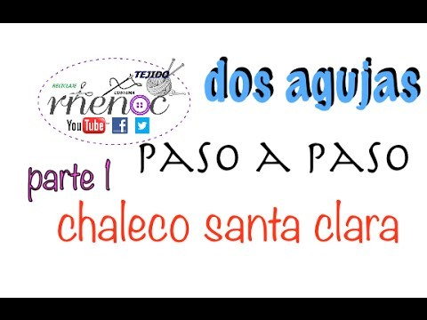 Chaleco Tejido Dos Agujas Palillos parte 1, Knitting Vest easy design DIY