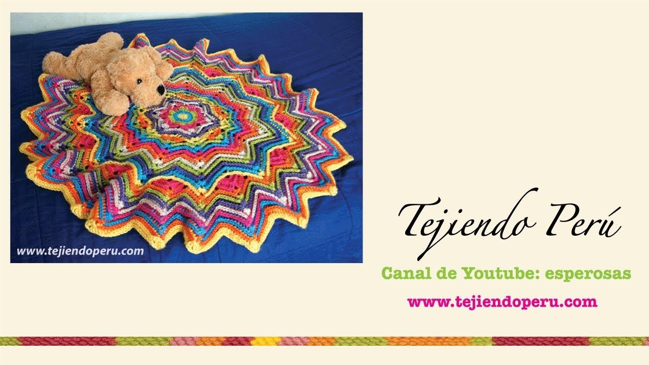 Cobija ondulada redonda tejida a crochet: Parte 2 (crochet round ripple blanket)