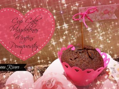 Como Decorar Mesa de dulces Scrapbook,cup cake o magdalena   Paso a Paso