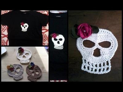 Como hacer calacas de crochet para decoración paso a paso segunda parte