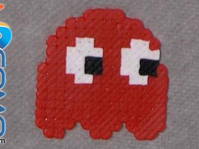 Cómo hacer el fantasma rojo del Pacman con hama beads