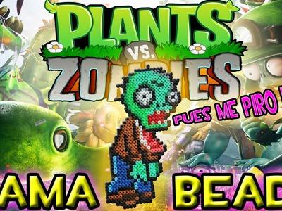 Como hacer el ZOMBI de Plantas contra Zombis | Hama Beads - Perler Bear