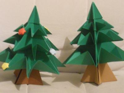 CÓMO HACER UN ÁRBOL DE NAVIDAD DE CARTULINA con origami (ESPECIAL NAVIDAD)
