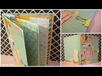 Cómo hacer un Miniálbum de sobres. Manualidades para el Día del Padre *TUTORIAL SCRAPBOOK*