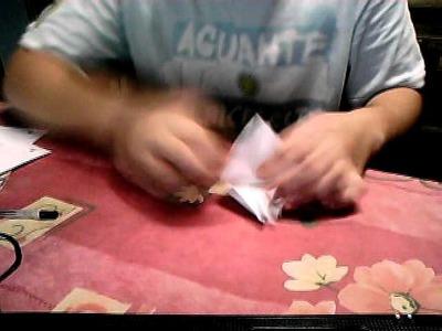 Como hacer una cigüeña de origami