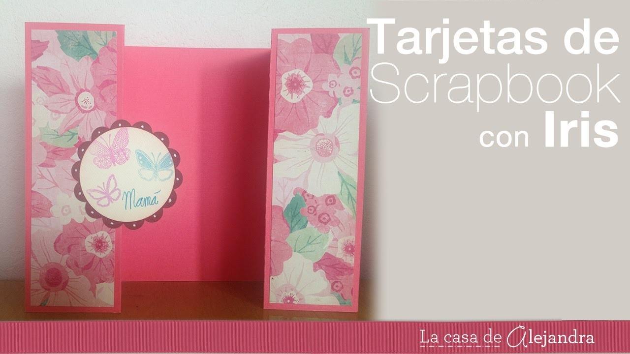 Cómo hacer una tarjeta para regalo con scrapbook - How to make a scrapbook gift card