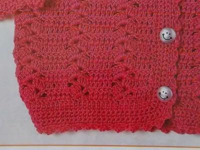 Como tejer sweater para niña a crochet