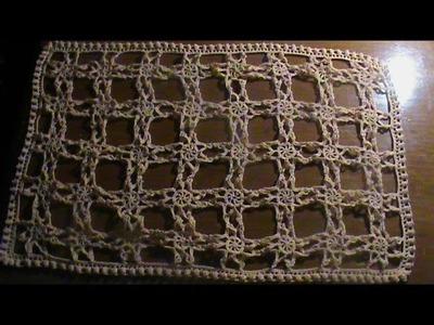 Cómo #tejer un centro de mesa a #crochet o #gancho. 2a. Parte de 3.