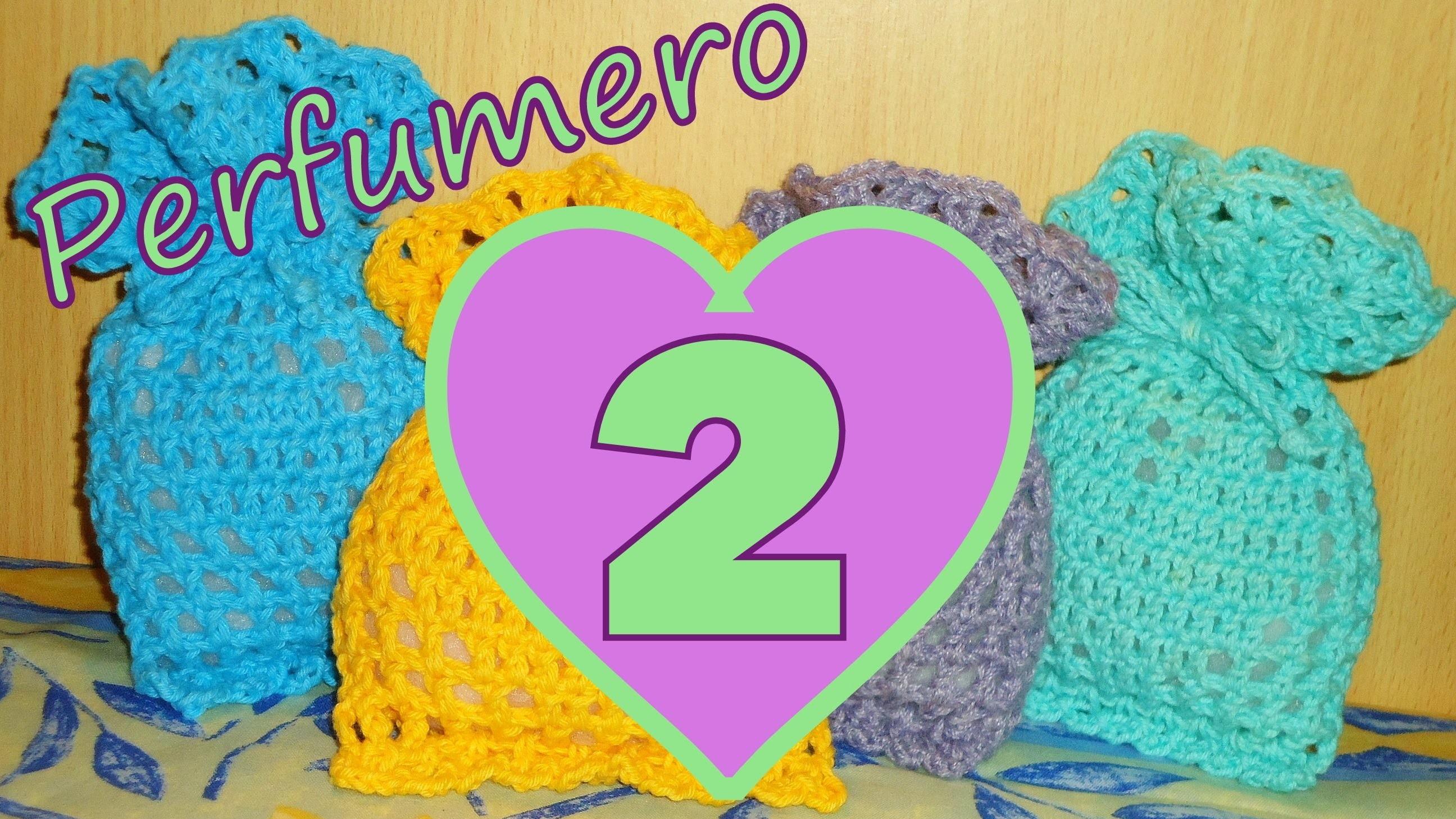 Cómo tejer un perfumero corazón 2° parte (filet crochet perfume heart) -tejido para zurdos-