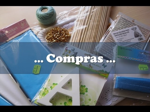 Compras de material para manualidades. Craft supplies haul.