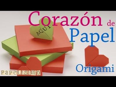 Corazón Papel. Origami. 3 minutos