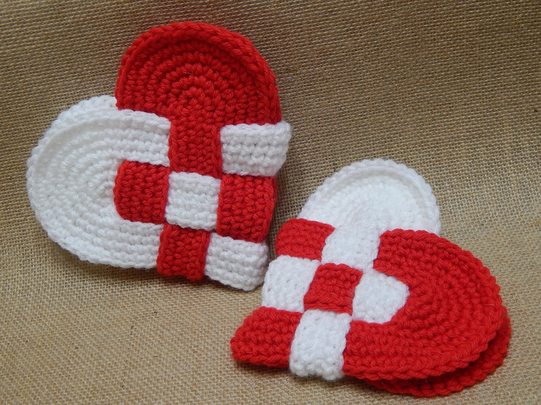 Corazones Entrelazados Crochet