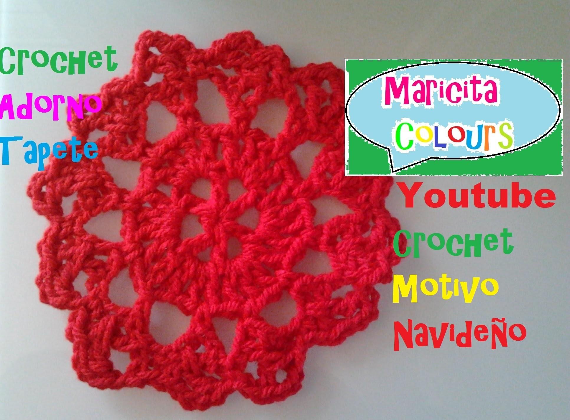"""Crochet  Adorno, Tapete, Mantel  """"Pilar"""" (Parte 1) por Maricita Colours"""