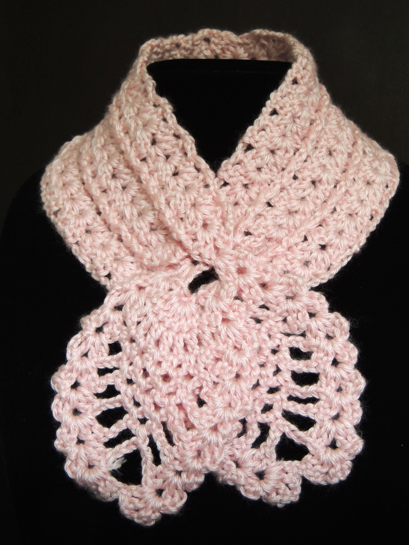 Crochet : Bufanda de Piñas.  Parte 2 de 2