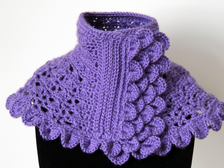 Crochet : Cuello en Morado #1.  Parte 1