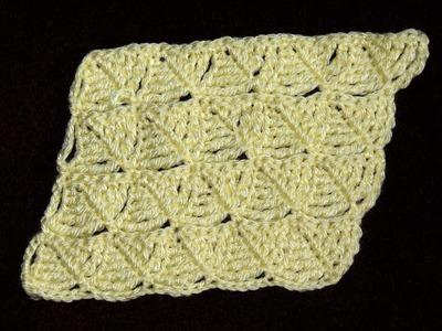 Crochet : Punto Hoja