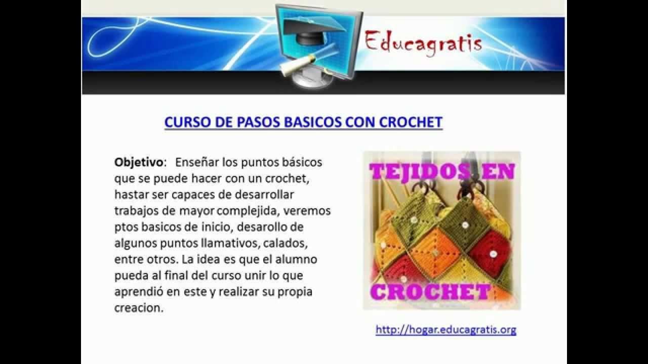 Cursos gratis de Tejido Bordado Telar Crochet