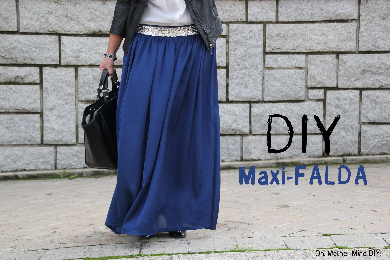 DIY Costura cómo hacer una falda larga (maxi-falda)