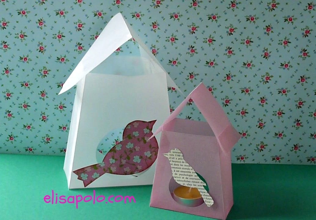 DIY, Lámpara Casita de Pájaros, Birds Paper Lamp.