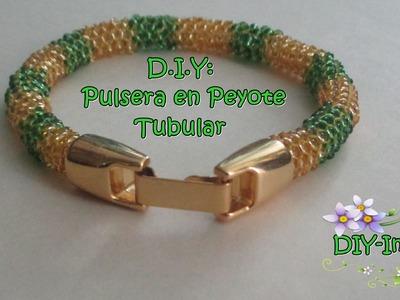DIY PULSERA EN TECNICA PEYOTE TUBULAR