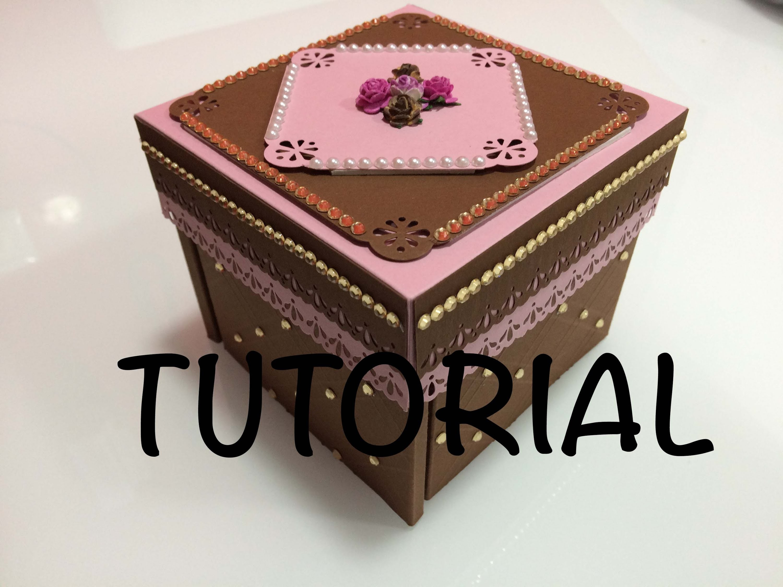 DIY Tutorial exploding box diferente parte 2