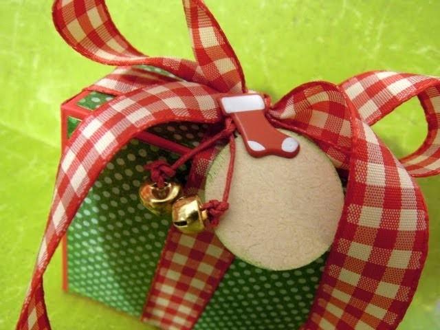 DN2: Cómo hacer una caja para regalo. Tutorial scrapbooking navideño