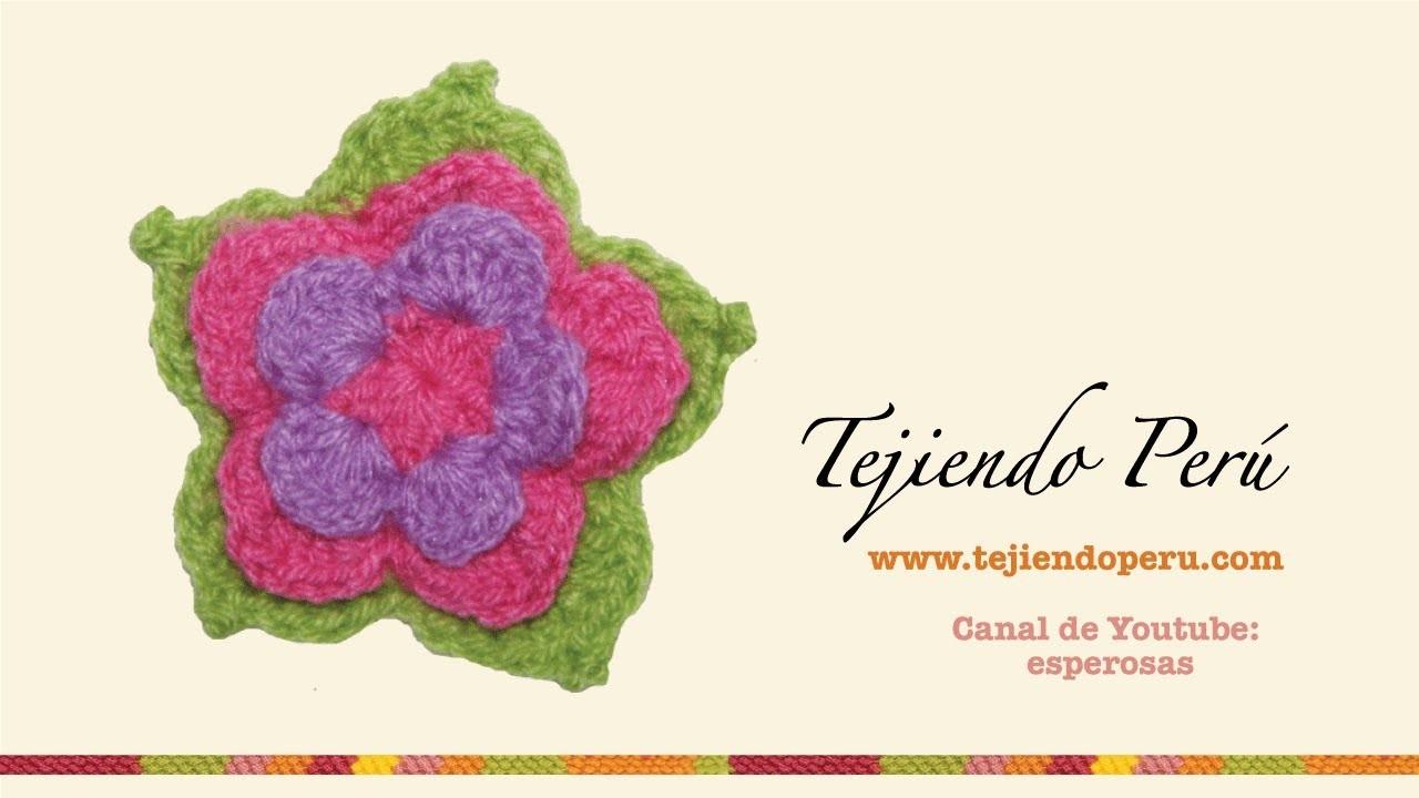 Flor de loto tejida a crochet